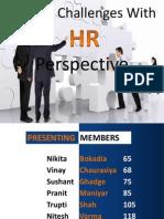 Challenges in HR Perspective