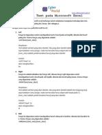 Rumus Fungsi Text Pada Microsoft Excel