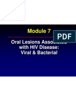 Oral Lesions Associated With HIV Disease Viral & Bacterial
