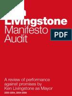 Ken Livingstone Manifesto Audit