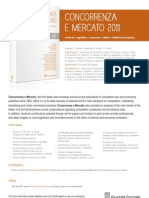 Concorrenza e Mercato. Antitrust, regulation, consumer welfare,intellectual property_2011_FLYER