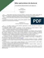 Codul Studiilor Universitare de Doctorat HG681 August 2011