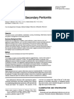Management of Secondary Peritonitis