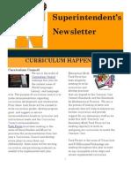 Superintendent's Newsletter March 2012