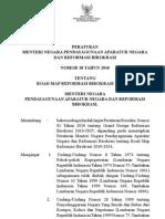 Permenpan No 20_2010 Ttg Road Map Rb 2010-2014