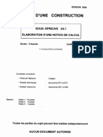 BTSCONSBH Elaboration d Une Notice de Calcul 2006