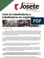 CARTA AOS PROFISSIONAIS DO MAGISTÉRIO