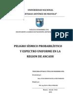 Peligro Sismico Ancash PERU Tesis 2012 PSHA-UHS