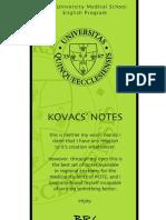 Kovacs' Notes