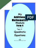 Quadratic Eqn