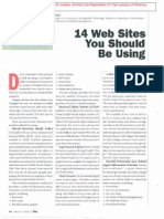 David J. Siegel - 14 Websites You Should Be Using