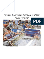 Vision &Mission of Small Scale