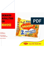 35876401 Demand Analysis on Chosen Product Maggi