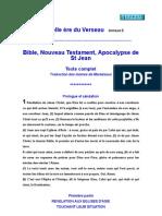 Apocalypse de Saint Jean Texte Complet