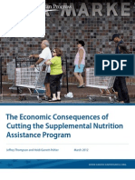 The Economic Consequences of Cutting the Supplemental Nutrition Assistance Program