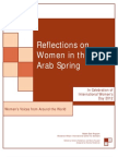 Reflections on Women in the Arab Spring