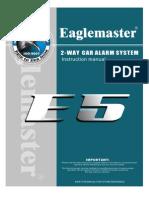 Eagle Master E5 Auto Alarm Manual