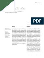 análise da produção legislativa na Saúde