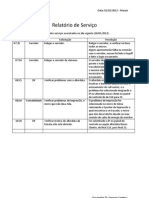 Relatório de Serviço 01-02-2012