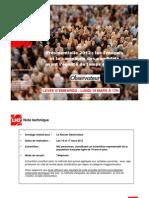Sondage LH2 Nouvel Obs - les Français et la campagne des candidats avant l'égalité de temps de parole mars 2012
