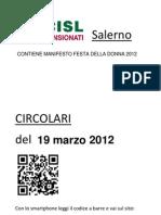Circolari Del 19 Marzo 2012 e Manifesto Festa Della Donna 2012