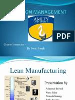 Lean Manufacturing..