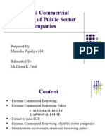 External Commercial Borrowing of Public Sector Companies