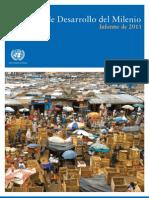 Informe de Resultados de 2011 sobre los Objetivos de Desarrollo del Milenio