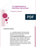 New Dimensions in Industrial Relations