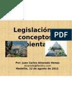 Legislación y conceptos ambientales