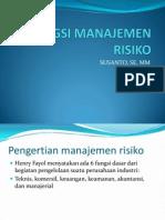 Fungsi Manajemen Risiko