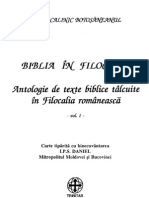 Biblia in Filocalie (Antologie de Texte Biblice Talcuite in Filocalia Romaneasca 01