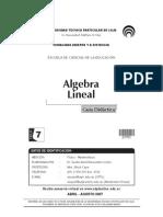 Algebra Lineal - Guía didáctica