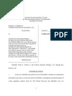 CV Complaint Obrien v Hhs Obama Abortion Pill Mandate