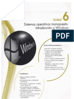 6 Sistemas operativos monopuesto. Introducción a Windows