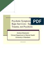 Andrew Moskovitz Psychotic Symptoms in Rape Survivors