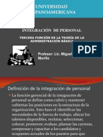 Tema 5. Integración de Personal UHISPANOAMERICANA