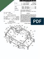 Shallow recessed floor box (US patent 5796037)