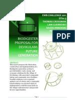 16A - Bio Dig Ester Proposal for Future Generations