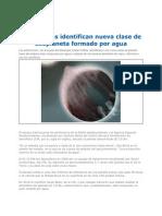 Astronomos Identifican a Formado Por Agua 2012