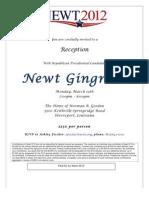 Fundraiser invite Newt 2012
