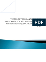 Vector Network Analyzer &Its Application for Rcs Akm