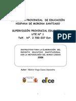Instructivo Para Elaboracin PEIs _Morona Santiago