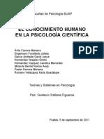 El Conocimiento Humano en la Psicología Científica