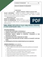 Fisa de Post Consilier Economic in Management