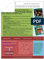Science in Autism Treatment Newsletter Spanish Flyer