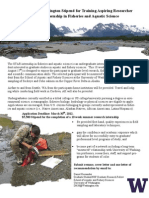 University of Washington Stipend for Training Aspiring Researcher (STAR) Internship in Fisheries and Aquatic Science