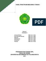 Laporan Praktikum Mekanika Tanah 1 Klp II