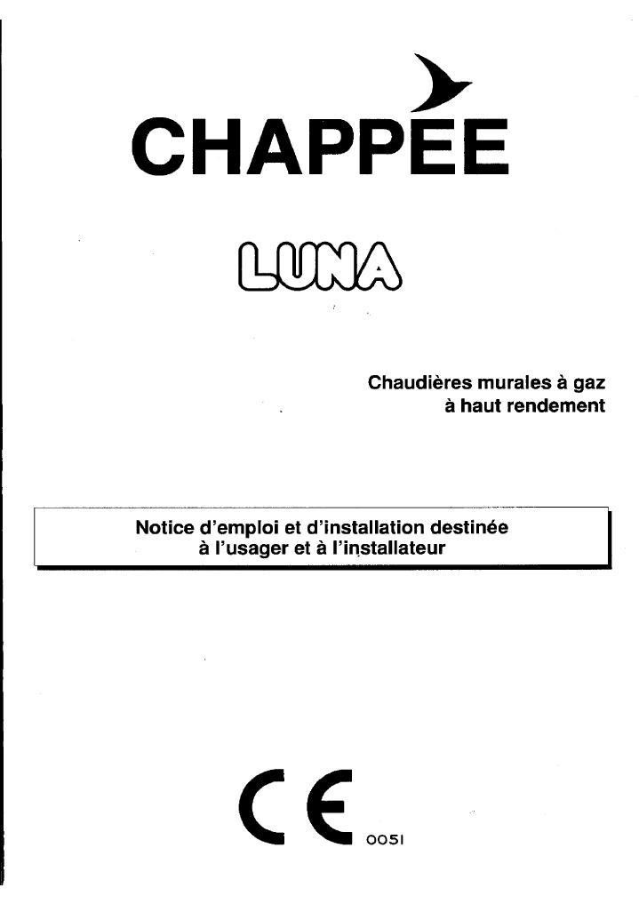 notice technique chappee luna. Black Bedroom Furniture Sets. Home Design Ideas