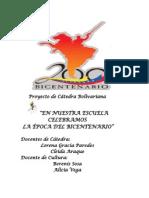 Proyecto de Ruta bicentenaria 2011-2012